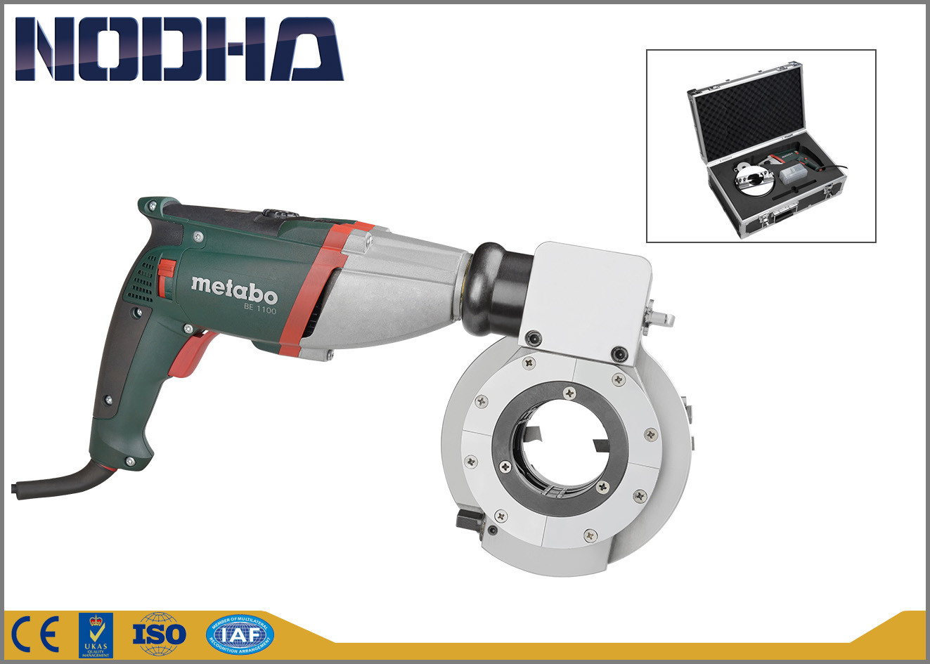 Electric Motor Pneumatic Beveling Tools , Pipe Cutter Machine 13kgs
